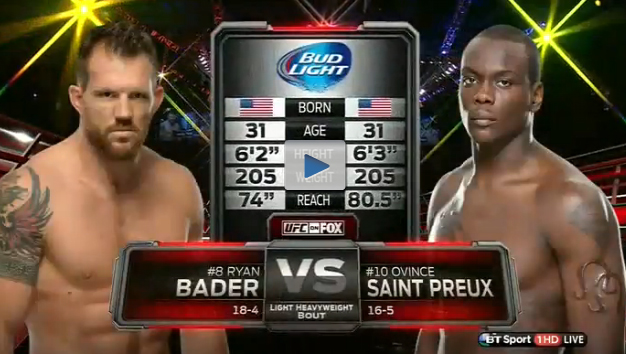 Video da luta: Ryan Bader x Ovince St. Preux